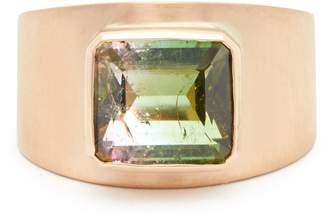 Irene Neuwirth 18kt brushed rose-gold & tourmaline ring