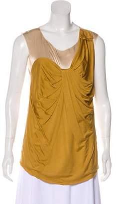 3.1 Phillip Lim Silk & Wool-Blend Sleeveless Top
