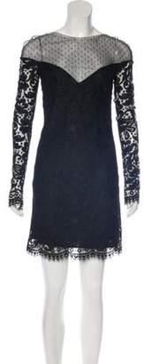 Emilio Pucci Lace Mini Dress Black Lace Mini Dress