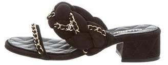 Chanel Chain-Link Slide Sandals