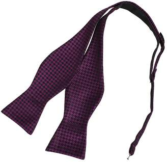 DBA7C13D Dark Grey Checkers Bow Tie Microfiber Perfection For Presents Hand-model Bow Tie By Dan Smith
