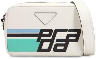 Prada Printed Logo Leather Camera Bag