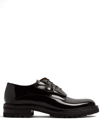 Valentino Monk Strap Leather Derby Shoes - Mens - Black