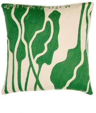 Kilometre Paris - Germantown Embroidered Cotton Cushion - Multi