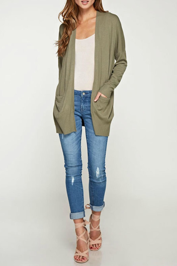 Love Stitch Lovestitch Open Cardigan