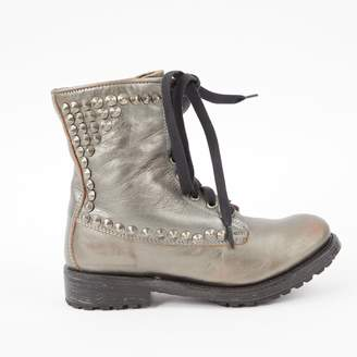 Ash Silver Leather Ankle boots