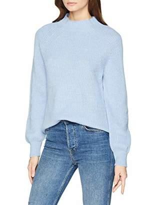 3767caacfc9 Gant Women's O2. Ribbed Mockneck Sweatshirt, (Hamptons Blue 420), (Size