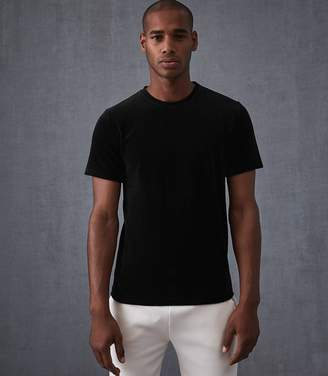 Reiss JUPITER VELOUR T-SHIRT Black