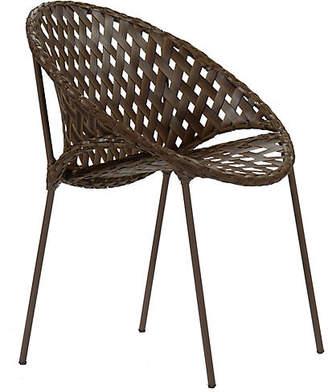 David Francis Furniture Tik-Tak Stacking Chair - Mocha