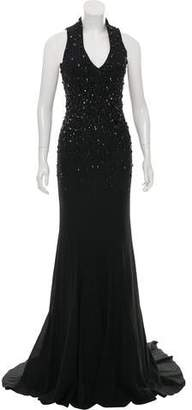 Mac Duggal Embellished Sleeveless Gown w/ Tags