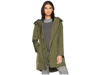 Sam Edelman Single Breasted Hooded Trench Coat Women's Coat
