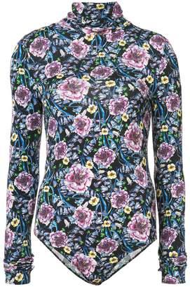 Prabal Gurung floral turtle-neck bodysuit
