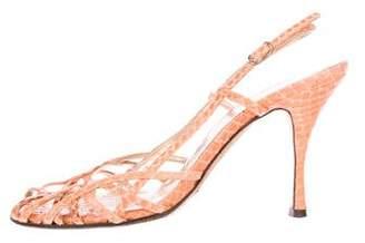 Dolce & Gabbana Slingback Snakeskin Sandals