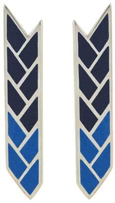 Osiris Baltera Stix Studs - Egyptian Blue & Lapis Enamel