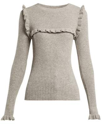 See by Chloe Ruffled Alpaca Blend Sweater - Womens - Grey