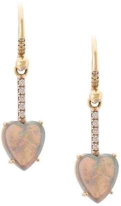 Irene Neuwirth 18kt white and yellow gold heart opal and diamond drop earrings