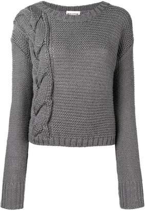 Semi-Couture Semicouture braid knit jumper