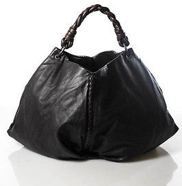Bottega VenetaBottega Veneta Brown Leather Intrecciato Trim Aquilone Hobo