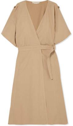 Vanessa Bruno - Iron Cotton, Linen And Tencel-blend Wrap Dress - Beige