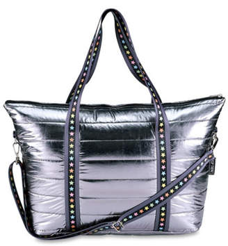Top Trenz Puffer Totes with decorative straps