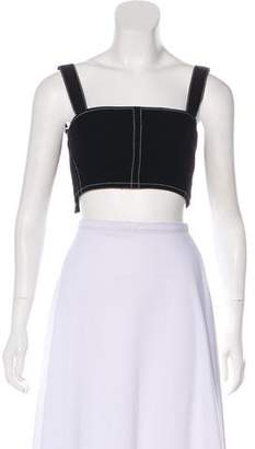 David Koma Sleeveless Crop Top