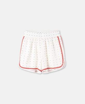 Stella McCartney nathalie color stitching shorts