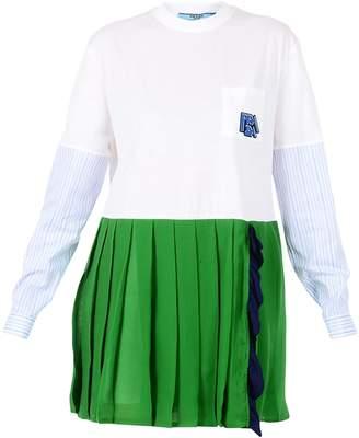 Prada Dress With Pleated Skirt