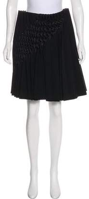 Noir Kei Ninomiya Pleated Knee-Length Skirt w/ Tags
