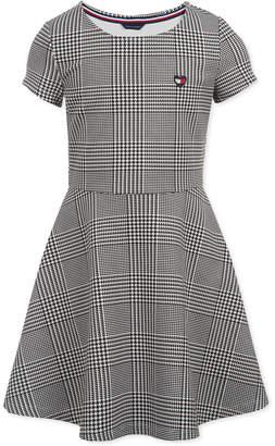 Tommy Hilfiger Toddler Girls Houndstooth-Print Fit & Flare Dress