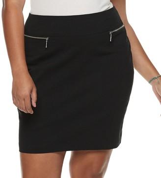 Juniors' Plus Size Joe B Zipper Pocket Skirt