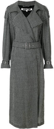 McQ checked printed coat