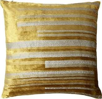 Kevin OBrien Kevin O'Brien Stripe Velvet Pillow - Gold