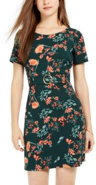 B. Darlin Juniors' Belted Floral Dress