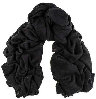 Black Oversized Cashmere Knit Scarf
