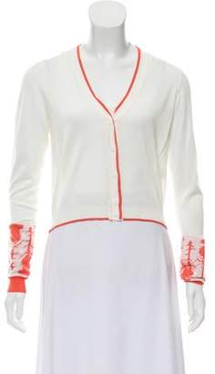 Sophie Theallet Silk Knit Cardigan White Silk Knit Cardigan