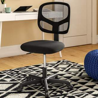 Ebern Designs Bazemore Mesh Desk Chair Arms: Not Included