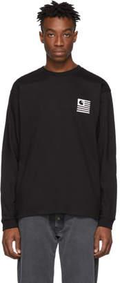 Carhartt Work In Progress Black State Patch Long Sleeve T-Shirt