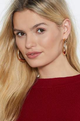 Nasty Gal Don't Get Chunky Fresh With Me Hoop Earrings