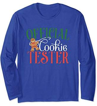 Official Cookie Tester Gingerbread Man Long Sleeve Shirt