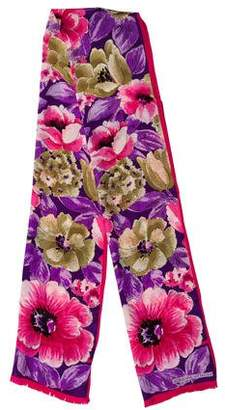 Adrienne Vittadini Silk Floral Scarf