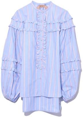 No.21 No. 21 Ruffle Shirt in Striped