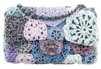 Chanel 2016 Multicolor Crochet-Work Flap Bag