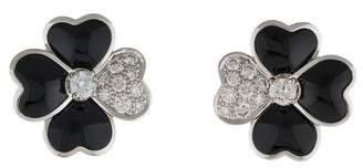 Van Cleef & Arpels Diamond & Onyx Cosmos Earrings