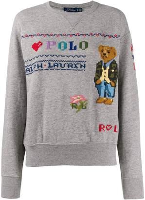 Polo Ralph Lauren Polo Bear embroidery sweatshirt