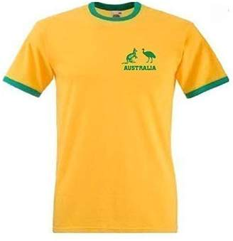 Invicta Sports Crazy unisex Australia National Cricket / Rugby Team T Shirt Extra Large