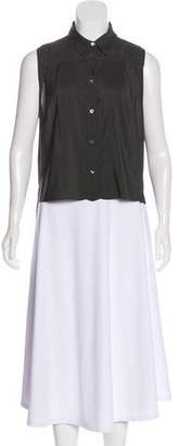 Hache Sleeveless High-Low Top