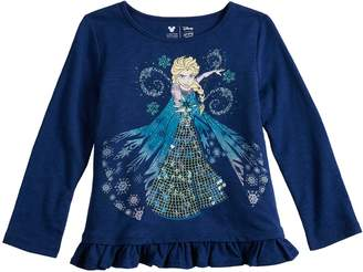 Disneyjumping Beans Disney's Frozen Elsa Toddler Girl Sequin Graphic Top by Jumping Beans