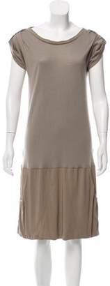 Brunello Cucinelli Silk-Accented Cashmere Dress