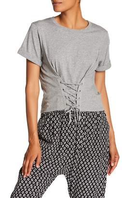 Joie Lizeth Corset Lace-Up Tee