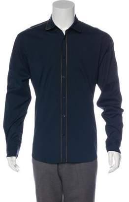 Alexander McQueen Round Collar Button-Up Shirt